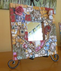 Pique Assiette Mosaic Mirror Made to Order   by PamelasPieces, $65.00