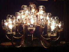 Large Handmade Upcycled Mason Jar van JenniferBissonStudio op Etsy, $260.00