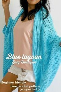 blue lagoon spring time easy crochet cardigan free pattern by jennyandteddy gore halloween, halloween costume bestfriend, halloween dinerWomen Kimono Cardigan Free Crochet Patterns The Genesis Kimono Cardigan Crochet Free Pattern – Women Free templateHo Crochet Cardigan Pattern, Crochet Jacket, Free Crochet Poncho Patterns, Beginner Crochet Patterns, Crochet Cocoon Pattern, Knitting Patterns, Crochet 101, Crochet Tops, Crochet Basics