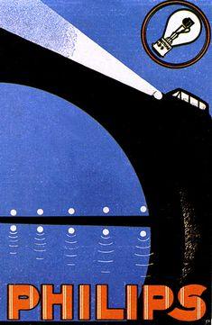 Vintage Graphic Design Graphic Design - An advertising poster promoting car lights for Philips I don't have the designer's name. Vintage Advertising Posters, Vintage Advertisements, Vintage Posters, Vintage Prints, Vintage Graphic, Poster Retro, Poster Ads, Poster Prints, Pub Vintage