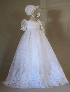 Bead Lace Baby Girl First Communion Dress Christening Gown Baptism With Bonnet | Clothing, Shoes & Accessories, Baby & Toddler Clothing, Christening | eBay!
