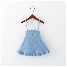 >> Click to Buy << 2016 summer nove baby girls denim 2 color blue sundresses costume kids roupas infantis menina suit 2-7T children robe fille	 #Affiliate