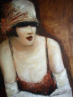 untitled picture by Mo Welch (contemporary), British - inspired by the style of the 1920's (mowelch)