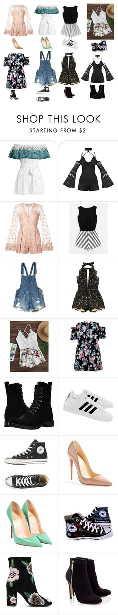 """Rompers"" by purpleprincess84729 on Polyvore featuring Mara Hoffman, Zuhair Murad, Hollister Co., Frye, adidas, Christian Louboutin, Converse, Rebecca Minkoff and Lipsy"