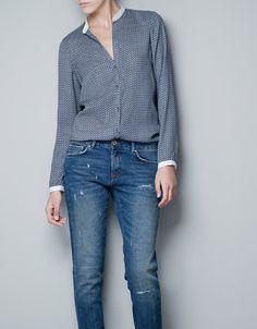 Camisa Tie Zara – Madame Chica