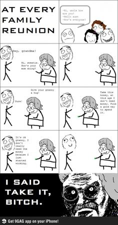 Family reunion funny rage comic | Funny weird viral pics