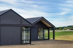 Linetype is a small architectural design firm established by Ben Brady. Linetype offers full design services for new builds and alterations, as well as a range of contract draughting and documentation services. Modern Farmhouse Exterior, Industrial Farmhouse, Industrial Sheds, Norwegian House, Wooden Facade, Modern Barn House, Woodland House, Rural House, Shed Homes