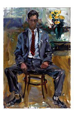 kundst: Elaine de Kooning (US 1918-1989)portrait of Fairfield... | ALONGTIMEALONE | Bloglovin'