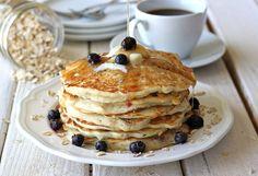 Blueberry Oatmeal Yogurt Pancakes....yes please