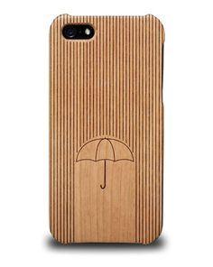 Coque iPhone 5 / 5S en bois - Umbrella Covearth