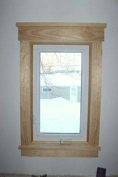 Fluted Window Casings With Medallions Wood Trim And