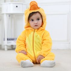 8c53b5d85 Yellow Duck Baby Boys & Girls Animal Onesies Cute Costume High Quality Girls  Rompers, Baby