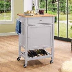 The Acme Furniture Hoogzen Portable Kitchen Cart is a fabulous way to get extra storage and prep surface space in your modern kitchen. This portable. Portable Kitchen Island, Kitchen Storage Cart, Kitchen Island Cart, New Kitchen Cabinets, Kitchen Cabinet Design, Cabinet Space, Wooden Kitchen, Kitchen Islands, Kitchen Grey