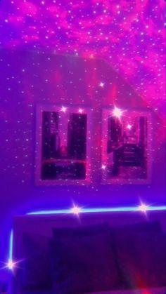 Cute Room Decor, Teen Room Decor, Room Ideas Bedroom, Galaxy Room, Neon Bedroom, Aesthetic Room Decor, Aesthetic Indie, Indie Room, Master Bedroom Design