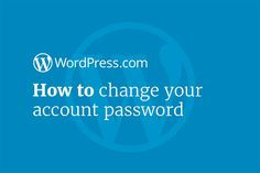Discover how to change your account password with this step-by-step video tutorial.  #WordPress #blogging #websites