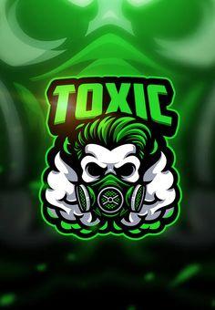 Toxic skull - Mascot & Esport Logo by aqrstudio on Envato Elements Dope Wallpapers, Gaming Wallpapers, Logo Foto, Shark Logo, Team Logo Design, Esports Logo, Graffiti Wallpaper, E Sport, Skull Logo