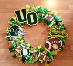 Oregon Duck Football Wreath by SherbertDesigns on Etsy, $65.00