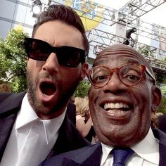Al Roker and Adam Levine at the 2014 Emmys.