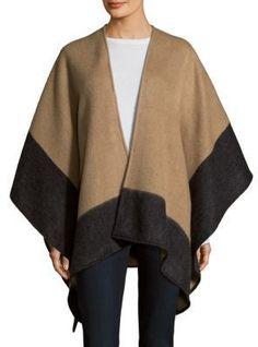 Wool Modern Draped Cape Vintage Poncho Shawl Brown Black Fringe Woven Outwear Wrap Swing Cloak Drape Coat Open Cardigan Unisex One Size