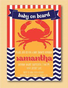 Nautical Baby Shower Invite