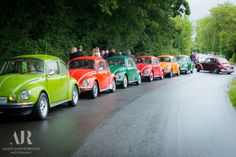 How else could we honour a VW enthusiast other than by forgetting the usual funeral cars and by travelling to and from the church and cemetery in 7 VW Beetles?