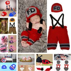 Promotion price Crochet Baby Hat shorts Set Newborn Baby Fireman Costume Infant Boy Knitted Firefighters Photography Props 1set MZS-15037 just only $4.95 - 7.74 with free shipping worldwide  #babyboysclothing Plese click on picture to see our special price for you