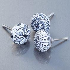 Floral Ceramic Knobs - Door Knobs & Handles - Home Accessories