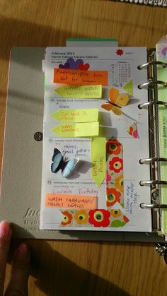 Sorting out forty : Filofax retro bloom personal page setup . butterflies .