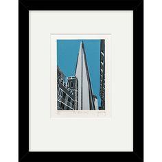 Buy Jennie Ing - The Shard Limited Edition Framed Linocut, 44 x 34cm   John Lewis
