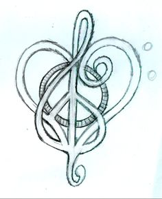 Peace, Love & Music :) This could be my next tattoo!