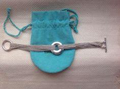 rare Tiffany&co  925 sterling silver multi strand circle chain bracelet - http://elegant.designerjewelrygalleria.com/tiffany/rare-tiffanyco-925-sterling-silver-multi-strand-circle-chain-bracelet/