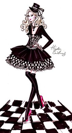 Hayden Williams Fashion Illustrations: Costume Couture by Hayden Williams: The Mad Hatter