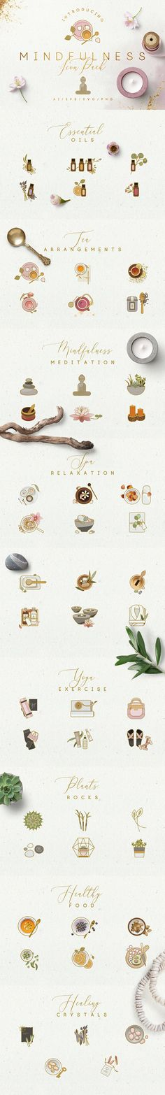 Mindfulness Icon Pack by Polar Vectors on @creativemarket
