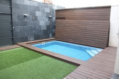 Small Backyard Pools, Natural Swimming Pools, Backyard Pool Designs, Patio Chico, Hidden Pool, Small Pool Design, Modern Bungalow, In Ground Pools, Building A House