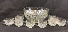 Vintage Williamsport Glass Punch Bowl Set 10 Piece Collectible Gift  | Pottery & Glass, Glass, Glassware | eBay!