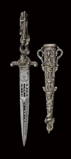 nice for letting the blood flow French Ceremonial Dagger circa – Swords And Daggers, Knives And Swords, La Forge, Dagger Knife, Medieval Weapons, Cool Knives, Arm Armor, Fantasy Weapons, Katana