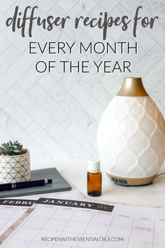 Diffuser Recipes for Every Month of the Year - Recipes with Essential Oils Young Living Oils, Young Living Essential Oils, Best Diffuser, Essential Oil Diffuser Blends, Diffuser Recipes, Orange Essential Oil, Diy Skin Care, Months In A Year, Aromatherapy