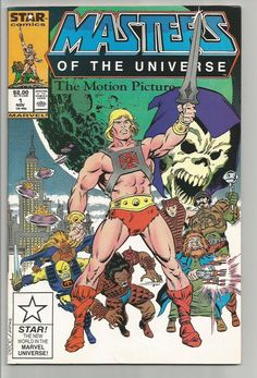 MASTERS OF THE UNIVERSE #1 The Motion Picture Marvel Comics 1987