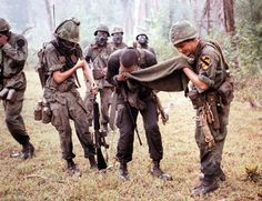 Soldiers from the Cavalry Division deal with exposure to CS gas during an attack on a VC held hamlet on the Bong Son Plains, Vietnam History, Vietnam War Photos, American War, American History, Usmc, Military Police, Military Service, Military Uniforms, Total War