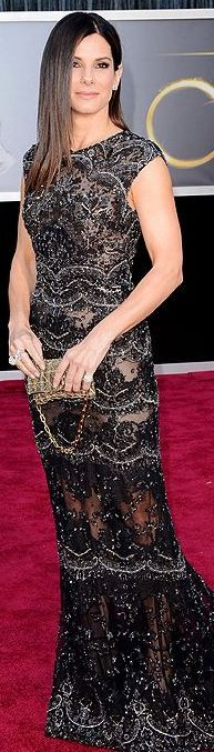 SANDRA BULLOCK at the 2013 Academy Awards - Elie Saab Haute Couture