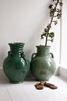 Green Marrocan vases from tinekhome