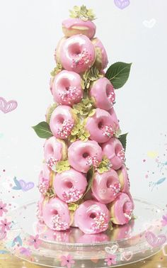 Taken - Donuts Donut Tower, Donut Bar, Doughnut Cake, Strawberry Tower, Disney Cakes, Pastry Cake, Chocolate Covered Strawberries, Pretty Cakes, Creative Cakes