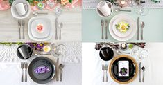 Dinnerware Setting Ideas for Spring Led Tealight Candles, Tea Light Candles, Tea Lights, Goblet Wine Glasses, Table Accessories, Hoppy Easter, Charger Plates, Side Plates, Dinnerware Sets