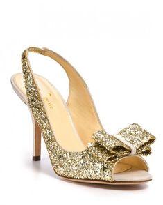 Kate Spade, Charm Glitter heel wedding shoe #sparklingeverafter