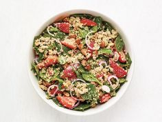 Quinoa Salad with Strawberries Recipe | Food Network Kitchen | Food Network