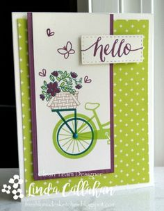 Bike Basket by abbysmom2198 - Cards and Paper Crafts at Splitcoaststampers