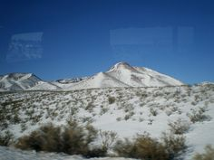 Snowfall in the desert