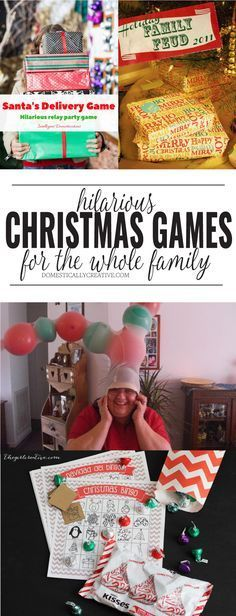 hilarious Christmas party games the whole family will love. We need to try some of these at our family Christmas party this year.