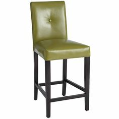 $160 Mason Counterstool - Avocado  Also comes in light blue, camel, rust, dark brown, black. Leather.