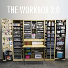 Wow. Just wow. Scrapbook storage. Folds up into a cabinet. $1495 includes storage accessories. Smaller version for $795. Sewing center for $1145.